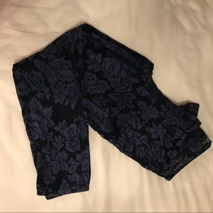 Guess navy flower jeans